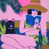 【Kim Sielbeck キム・シルベック】デジタルプリントアート Perfect Day  11×14