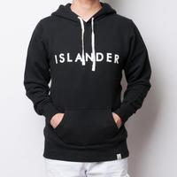 ISLANDER/アイランダー ロゴスウェットプルオーバーパーカー/ブラック