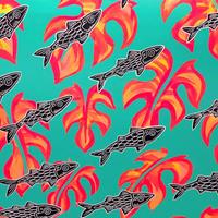 【Eduardo Bolioli エドゥアルド・ボリオリ】オリジナルアート 『 Ama'ama』32×24 原画