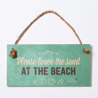 SoHa LIVING/Please the Sand At The Beach メッセージロゴプレート看板