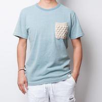 ISLANDER/アイランダー インディゴ染めポケットTシャツ(インディゴライトブルー)