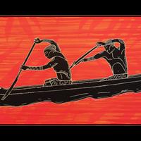 【Eduardo Bolioli エドゥアルド・ボリオリ】マットプリントアート 『Canoe』11×14(直筆サイン入り)