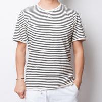 ISLANDER/アイランダー ボーダーTシャツ/ブラック