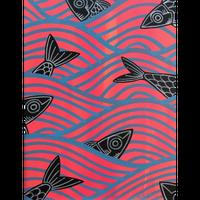 【Eduardo Bolioli エドゥアルド・ボリオリ】マットプリントアート 『Plenty fish in the sea』11×14(直筆サイン入り)