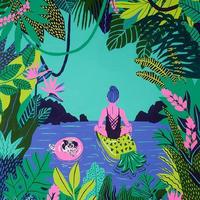 【Kim Sielbeck キム・シルベック】デジタルプリントアート Float On 11×14