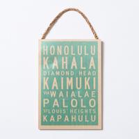 SoHa LIVING/Oahu Scroll Town メッセージロゴプレート看板