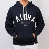 ISLANDER/アイランダー 『ALOHA』スウェットプルオーバーパーカー/ネイビー