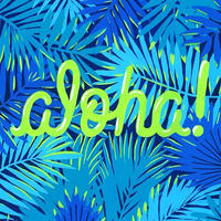 【Kim Sielbeck キム・シルベック】デジタルプリントアート Blue Aloha 11×14