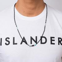 ISLANDER(アイランダー)3WAYネイティブロングビーズネックレス/アンクレット/ブレスレット(ブラック)