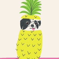 【Kim Sielbeck キム・シルベック】デジタルプリントアート Ziggy Pineapple  11×14