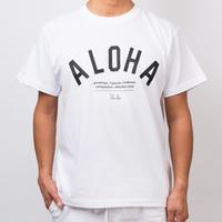 ISLANDER/アイランダー 『 ALOHA 』 Tシャツ/ホワイト