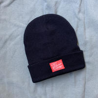 5656WORKINGS/GQ TAG KNIT CAP_BLACK