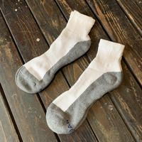 GILDAN/ANKLE SOX_WHITExGRAY