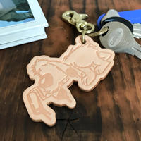 5656WORKINGS/BEAN LEATHER KEYHOLDER_NUME