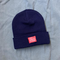 5656WORKINGS/GQ TAG KNIT CAP_NAVY