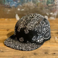 5656WORKINGS/BANDANNA 5PANEL CAP_BLACK