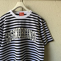 5656WORKINGS/CLG BORDER UNIFORM Tee_BLACK×WHITE