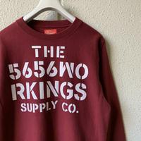 5656WORKINGS/NO.56 TEAM SWEAT UNIFORM_BUGUNDY