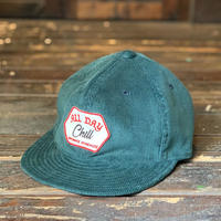 Brownie/All Day Chill CORDUROY CAP_EMERALD GREEN