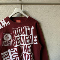 5656WORKINGS/STUFF TEAM SWEAT_BURGUNDY
