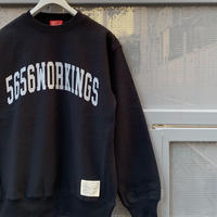 5656WORKINGS/CLG CREW SWEAT_BLACK