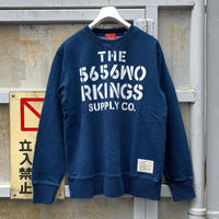5656WORKINGS/NO.56 TEAM SWEAT UNIFORM_INDIGO BLUE