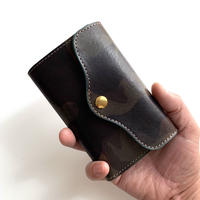 5656WORKINGS/THREE-FOLD LEATHER WALLET_CAMO