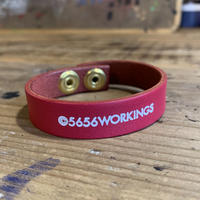 5656WORKINGS/NO.56 LEATHER BRACELET_MAGENTA