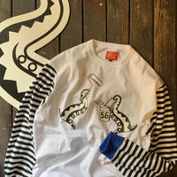 5656WORKINGS/DEVIL FISH SWITCHING BORDER L/S Tee