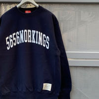 5656WORKINGS/CLG CREW SWEAT_NAVY