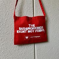 5656WORKINGS/FDRNS SHOULDER BAG_FINE RED