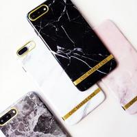 [NW196]★ iPhone 6 / 6s / 6Plus / 6sPlus / 7 / 7Plus / 8 / 8Plus ★ シェルカバー ケース 大理石 シック 上品 ゴールド ライン