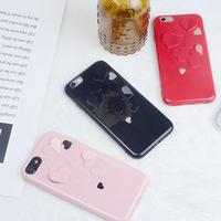 [NW310]★ iPhone 6 / 6s / 6Plus / 6sPlus / 7 / 7Plus / 8 / 8Plus ★ シェルカバー ケースハート ぷくぷく カッティング