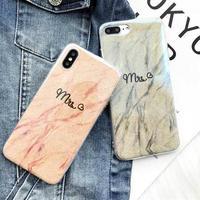 [MD360] ★ iPhone 6 / 6s / 6Plus / 6sPlus / 7 / 7Plus / 8 / 8Plus / X ★ シェルカバー ケース 大理石風 ツヤ  可愛い