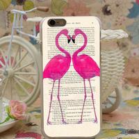 【MT005】iPhone6/6s/6Plus/6sPlus ハートフラミンゴ iPhoneケース 可愛い おしゃれ