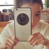[KS008]★ iPhone 6 / 6Plus / 7 / 7Plus ★ シェル型 ケース ブラック&ゴールド シックなスマイルにこちゃん  iPhoneケース