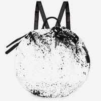 ★2018 新作【28662】MOSELLE  Printed Alias Cowhile Leather 本革 - White/Black  Cote&Ciel コートエシエル リュックサック