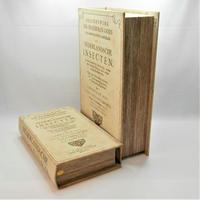 【古書風】ブック型ボックス・大小2個セット【アンティーク、インテリア、新生活、小物入れ、撮影小物】