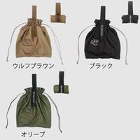 【流行りの巾着バッグ型】ポストジェネラルパッカブルパラシュートナイロンバッグ