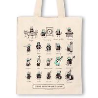 中国楽器-防疫音楽猫トートバッグ|音楽雑貨