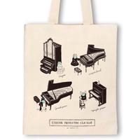 鍵盤楽器-防疫音楽猫トートバッグ|音楽雑貨