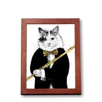 クラシックキャット肖像画  -  フルート|音楽雑貨