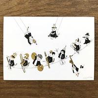 音楽サーカスはがき - Glissando|音楽雑貨