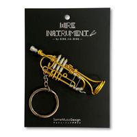 楽器ワイヤーストラップ - トランペット 音楽雑貨