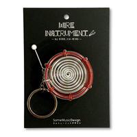 楽器ワイヤーキーホルダー - バスドラム 音楽雑貨