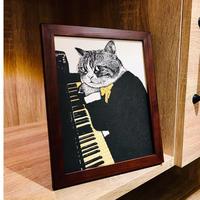 クラシックキャット肖像画  -  ピアノ|音楽雑貨