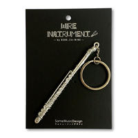 楽器ワイヤーストラップ - フルート|音楽雑貨