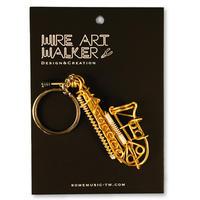 楽器ワイヤーストラップ - サックス|音楽雑貨