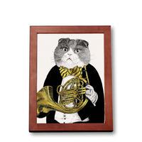 クラシックキャット肖像画  - ホルン|音楽雑貨