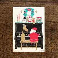 2019クリスマス限定はがき - ピアノ|音楽雑貨